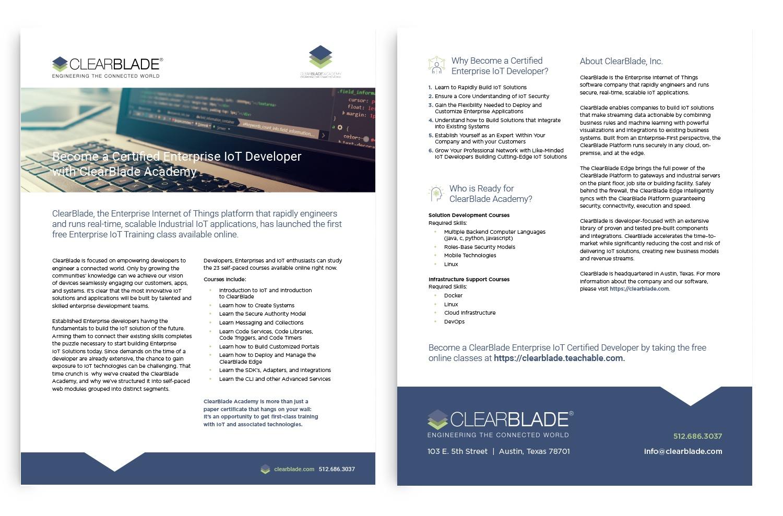 ThreeTwelve ClearBlade Data Sheet
